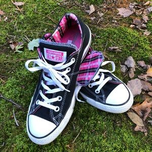 Converse All Star Black and Pink 10 Womens